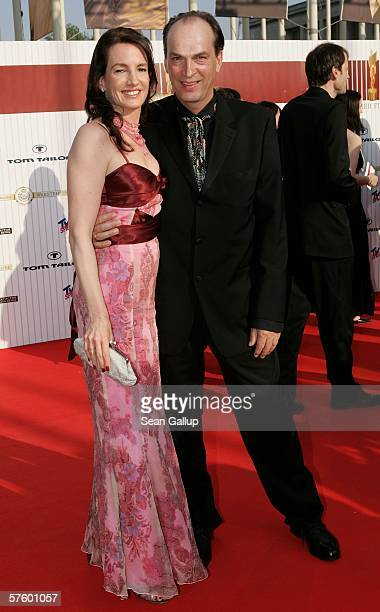 Actor Herbert Knaup and his wife Christiane Lehrmann arrive at the German Film Awards at the Palais am Funkturm May 12 2006 in Berlin Germany
