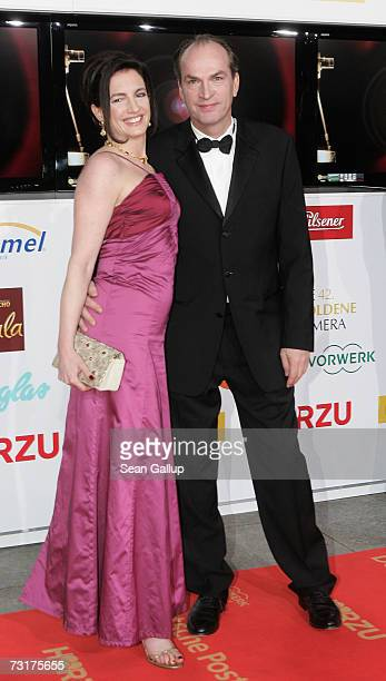 Actor Herbert Knaup and his wife Christiane Lehrmann attend the 42nd Goldene Kamera Awards February 1 2007 in Berlin Germany