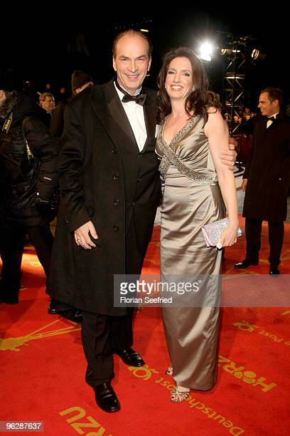 Actor Herbert Knaup and partner Christiane Knaup attend the Goldene Kamera 2010 Award at the Axel Springer Verlag on January 30 2010 in Berlin Germany