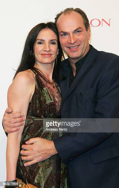 Actor Herbert Knaup and wife Christiane Lehrmann arrive at the Tribute to Bambi Charity Gala at the Postkantine November 30 2005 in Munich Germany