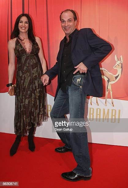 Actor Herbert Knaup and wife Christiane Lehrmann arrive for the Tribute to Bambi Charity Gala at the Postkantine on November 30 2005 in Munich Germany
