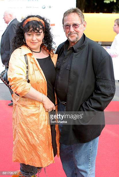 Actor Herbert Koefer and Heike Koefer attend the ZDF Television Summer Party June 29 2005 in Berlin Germany