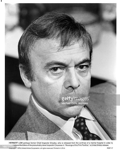 Actor Herbert Lom poses for a portrait as Chief Inspector Dreyfus in Revenge of the Pink Panther in circa 1978