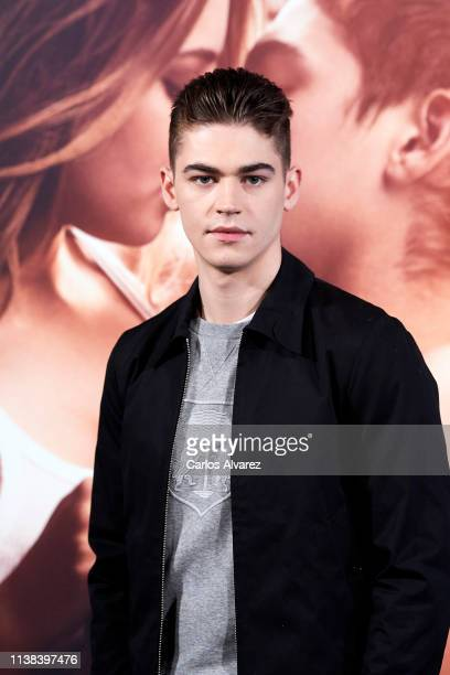 Actor Hero Fiennes Tiffin attends 'After Aqui Empieza Todo' photocall at the VP Hotel on March 26 2019 in Madrid Spain