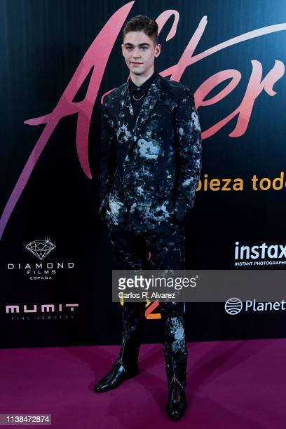 Actor Hero Fiennes Tiffin attends 'After Aqui Empieza Todo' premiere at the Capitol cinema March 26 2019 in Madrid Spain