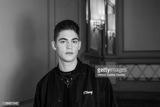 Actor Hero Fiennes Tiffin poses for a portrait on March 29 2019 in Milan Italy