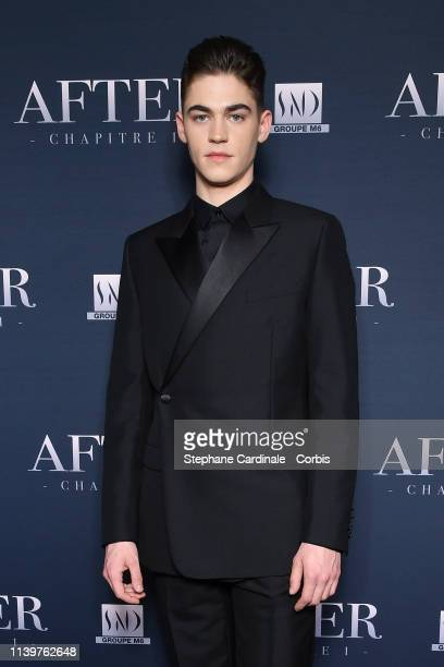 Actor Hero FiennesTiffin attends the After Photocall at Hotel Royal Monceau Raffle on April 01 2019 in Paris France
