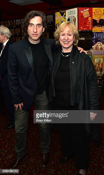 Actor Hershey Felder and former Prime Minister of Canada Kim Campbell attend the 'Hershey Felder As Irving Berlin' New York premiere at Town Hall on...