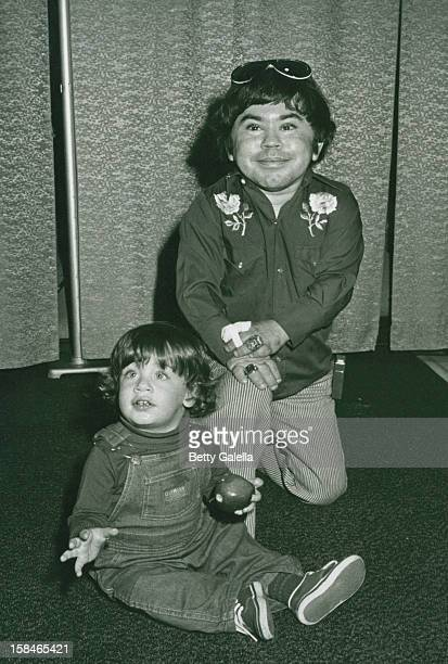 Actor Herve Villechaize and Simon Helberg attending Stars N Hearts Benefitings the Fund for Animals on February 14 1982 at the Santa Monica Civic...