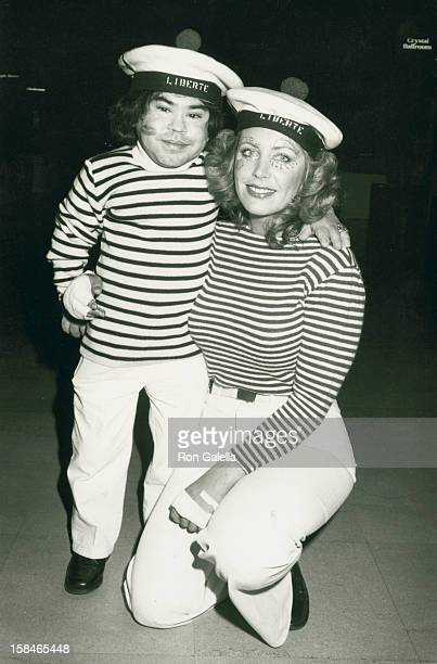Actor Herve Villechaize and Toby Bishop attending Sixth Annual Hathaway Home For Children Benefit on February 25 1984