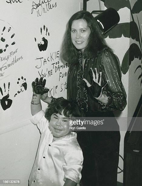 Actor Herve Villechaize and wife Camille Hagen attending 'Party for Jackie Mason' on September 14 1981 at the Improvisation in Los Angeles California