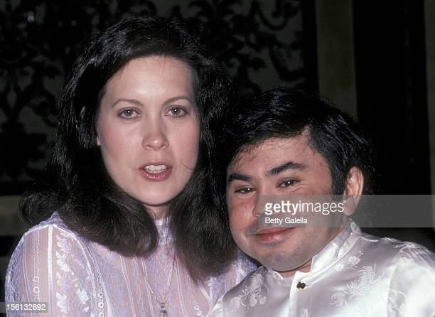 Actor Herve Villechaize and wife Camille Hagen attending Third Annual Media Awards 'Changing Attitudes' on January 22 1981 at the Beverly Hilton...