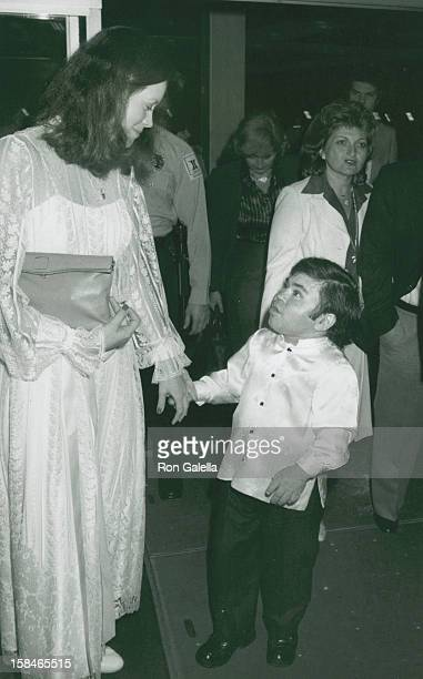 Actor Herve Villechaize and wife Camille Hagen attending Third Annual Media Awards Changing Attitudes on January 22 1981 at the Beverly Hilton Hotel...