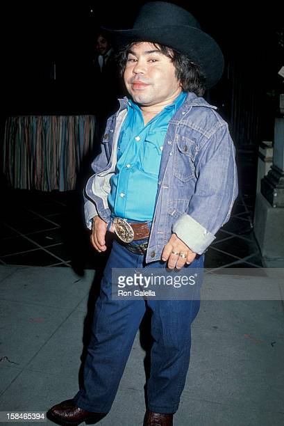 Actor Herve Villechaize attending Halloween Party on October 31 1983 at Le Dome Restaurant in West Hollywood California
