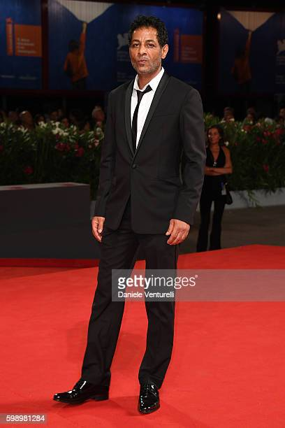 Actor Hichem Yacoubi of the cast of 'Caffe' attends the premiere of 'Brimstone' during the 73rd Venice Film Festival at Sala Grande on September 3...