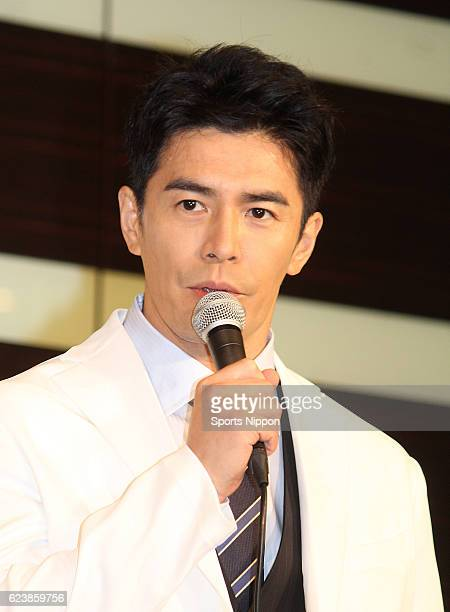 Actor Hideaki Ito attends press conference of Fuji TV program 'Mutsu' on October 1 2015 in Tokyo Japan