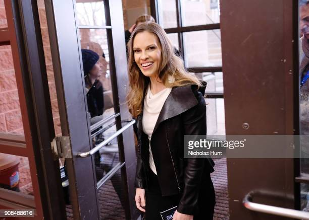 Actor Hilary Swank attends the 'What They Had' Premiere during the 2018 Sundance Film Festival at Eccles Center Theatre on January 21 2018 in Park...