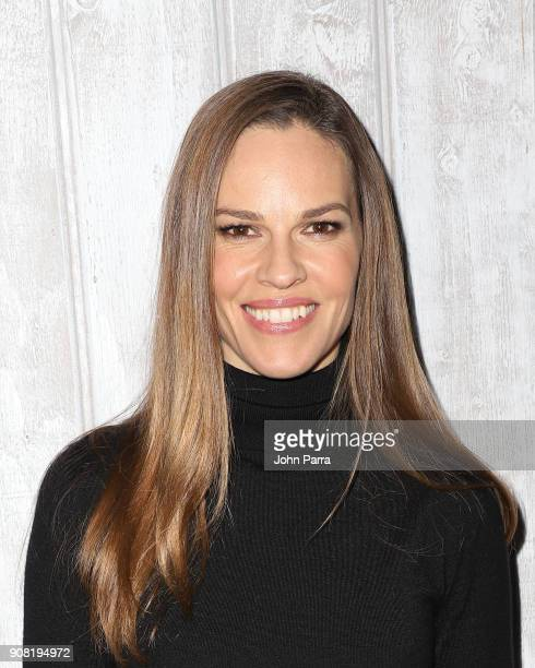 Actor Hilary Swank from 'What They Had' attends The Hollywood Reporter 2018 Sundance Studio at Sky Strada Park City on January 20 2018 in Park City...