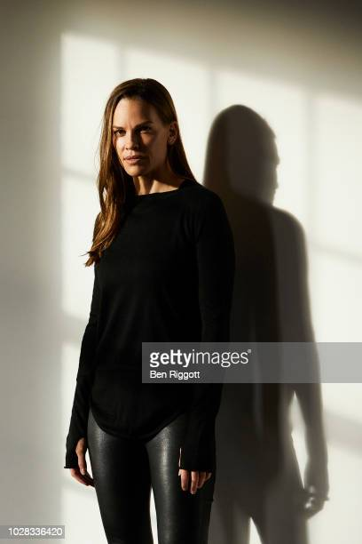 Actor Hilary Swank is photographed on October 22 2017 in London England
