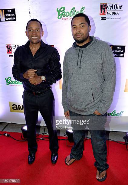 Actor Hill Harper and director Tommy Oliver attend the Creative Coalition VIP Dinner during the 2013 Toronto International Film Festival held at...