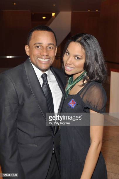 Actor Hill Harper and Jurnee Smollett arrive at the 8th Annual Heroes In The Struggle Gala at the Walt Disney Concert Hall on February 4 2009 in Los...