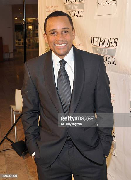 Actor Hill Harper arrives at the 8th Annual Heroes In The Struggle Gala at the Walt Disney Concert Hall on February 4 2009 in Los Angeles California