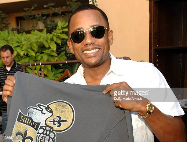 Actor Hill Harper poses at Retro Sport booth during Kari Feinstein Primetime Emmy Awards Style Lounge Day 2 held at Montage Beverly Hills hotel on...