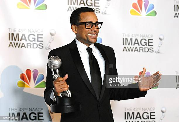 Actor Hill Harper poses in the press room at the 43rd annual NAACP Image Awards at The Shrine Auditorium on February 17 2012 in Los Angeles California