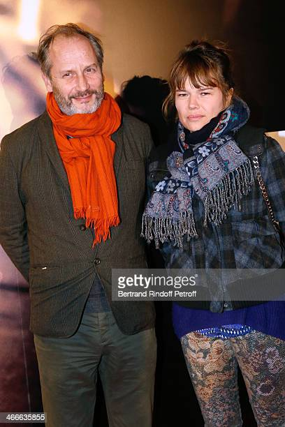 Actor Hippolyte Girardot and his wife Christina Larsen attend the 'Mea Culpa' Paris premiere held at Gaumont Opera on February 2 2014 in Paris France