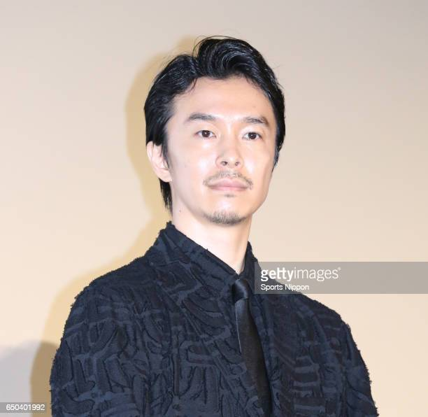 Actor Hiroki Hasegawa attends opening day stage greeting of film 'Godzilla Resurgence' on July 29 2016 in Tokyo Japan