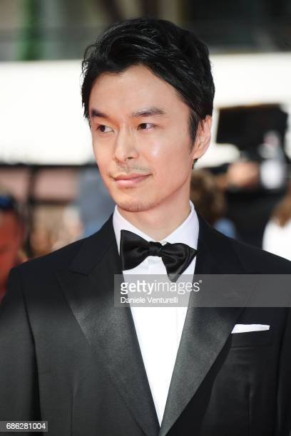 Actor Hiroki Hasegawa attends the 'Before We Vanish ' premiere during the 70th annual Cannes Film Festival at Palais des Festivals on May 21 2017 in...