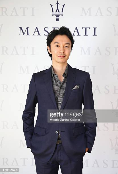 Actor Hiroki Hasegawa poses during the 70th Venice International Film Festival at Terrazza Maserati on August 29 2013 in Venice Italy