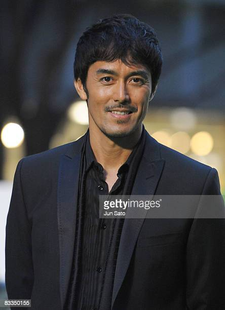 Actor Hiroshi Abe attends The 21st Tokyo International Film Festival Opening Ceremony at Roppongi Hills on October 18, 2008 in Tokyo, Japan. TIFF...