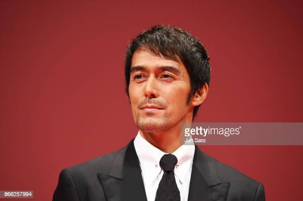 Actor Hiroshi Abe attends the opening ceremony of the 30th Tokyo International Film Festival at Ex Theater Roppongi on October 25, 2017 in Tokyo,...