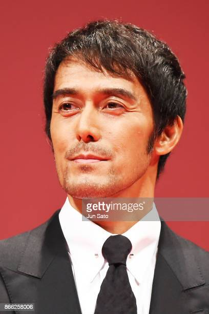 Actor Hiroshi Abe attends the opening ceremony of the 30th Tokyo International Film Festival at Ex Theater Roppongi on October 25 2017 in Tokyo Japan