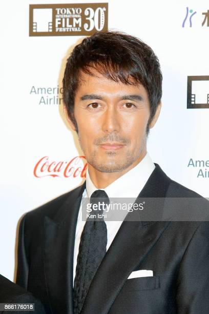 Actor Hiroshi Abe attends the red carpet of the 30th Tokyo International Film Festival at Roppongi Hills on October 25, 2017 in Tokyo, Japan.
