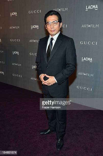 Actor Hiroyuki Sanada arrives at LACMA 2012 Art Film Gala Honoring Ed Ruscha and Stanley Kubrick presented by Gucci at LACMA on October 27 2012 in...