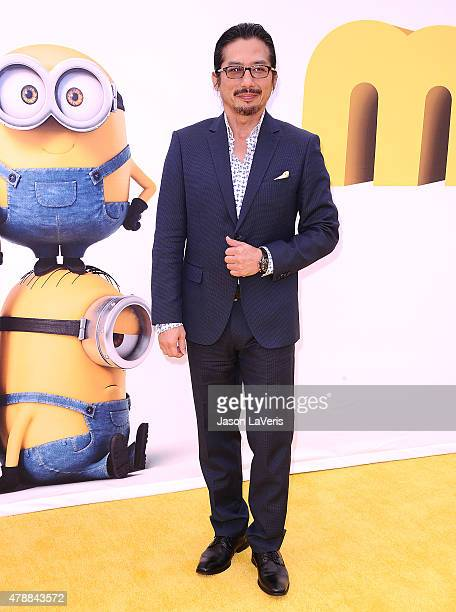 Actor Hiroyuki Sanada attends the premiere of 'Minions' at The Shrine Auditorium on June 27 2015 in Los Angeles California