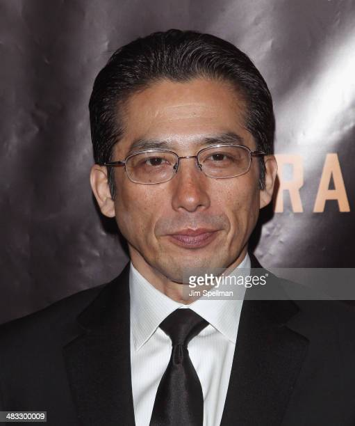 Actor Hiroyuki Sanada attends the Railway Man premiere on April 7 2014 in New York City