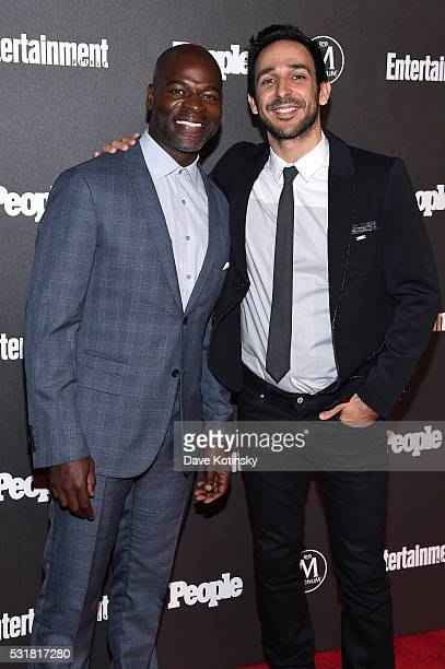 Actor Hisham Tawfiq and Amir Arison attend the Entertainment Weekly People Upfronts party 2016 at Cedar Lake on May 16 2016 in New York City