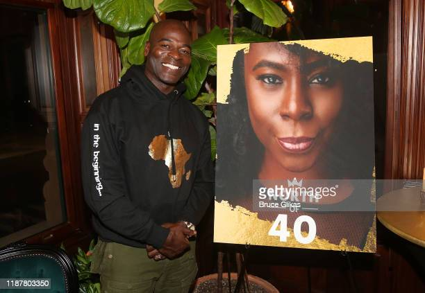 Actor Hisham Tawfiq poses at the celebration for the North of 40 Podcast Launch at Dapper Dan Atelier on November 14 2019 in New York City