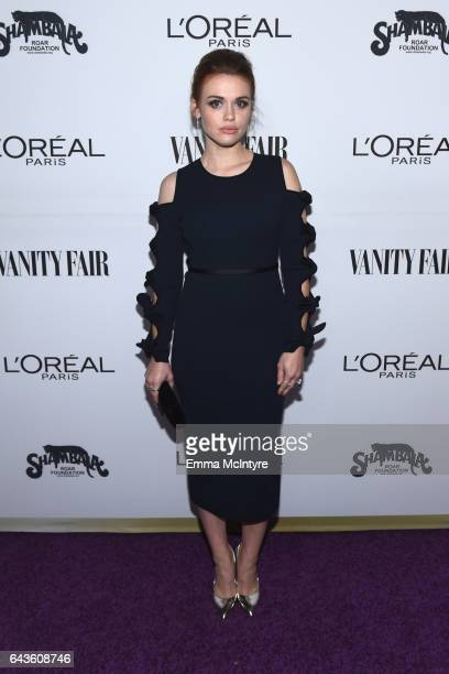 Actor Holland Roden attends Vanity Fair and L'Oreal Paris Toast to Young Hollywood hosted by Dakota Johnson and Krista Smith at Delilah on February...
