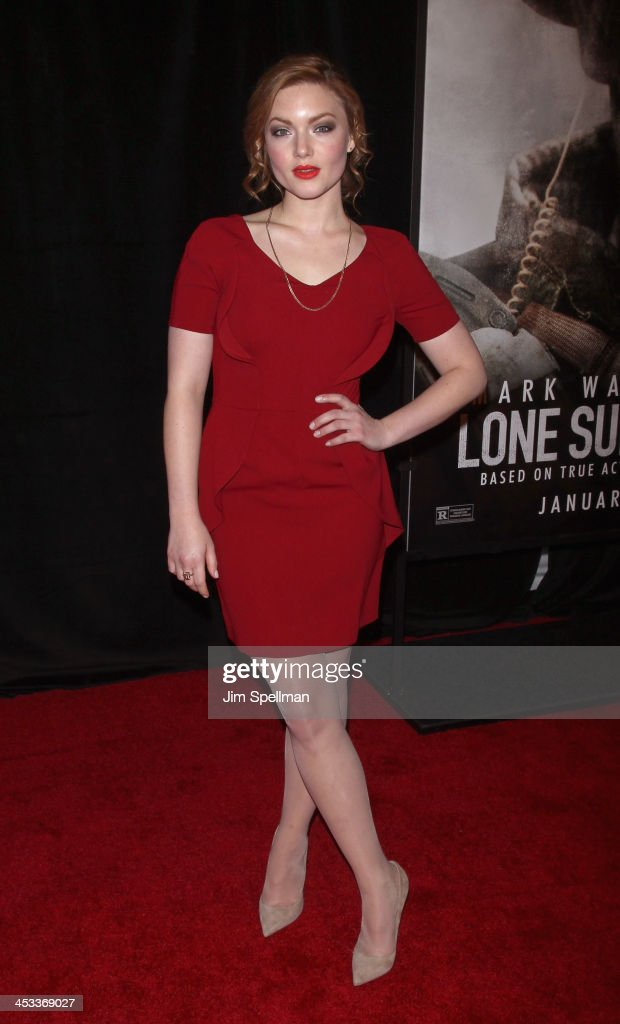 Actor Holliday Grainger attends the 'Lone Survivor' New York premiere at Ziegfeld Theater on December 3, 2013 in New York City.