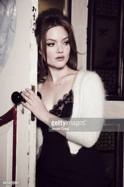 Actor Holliday Grainger is photographed for Flaunt magazine on September 18 2013 in London England