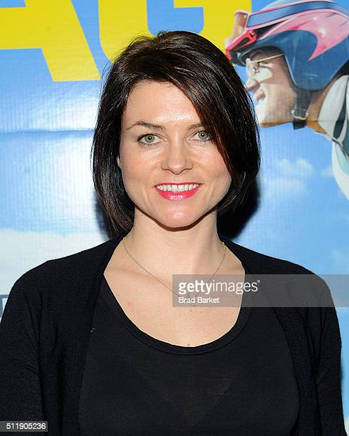 Actor Holly Davidson vattend the Eddie The Eagle New York Screening at Chelsea Bow Tie Cinemas on February 23 2016 in New York City