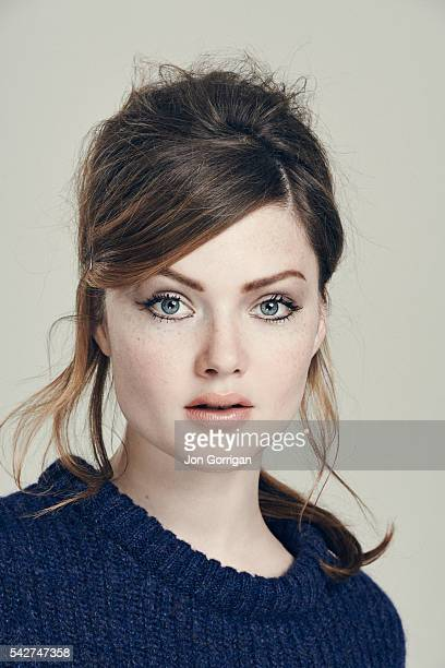 Actor Holly Grainger is photographed for the Guardian on July 3 2014 in London England