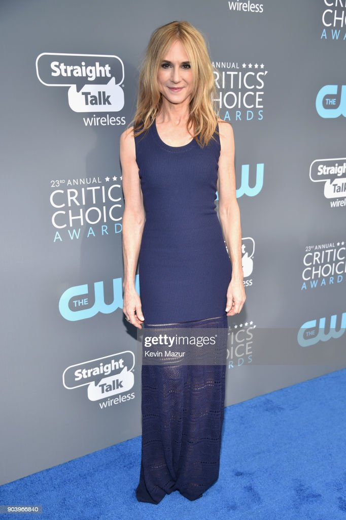 Actor Holly Hunter attends The 23rd Annual Critics' Choice Awards at Barker Hangar on January 11, 2018 in Santa Monica, California.