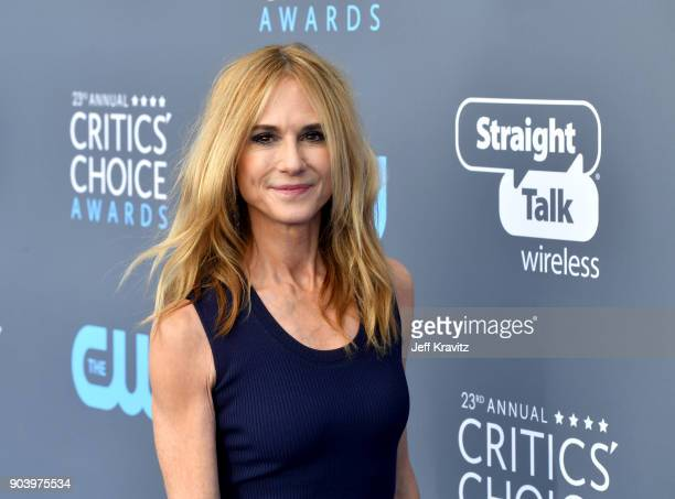 Actor Holly Hunter attends The 23rd Annual Critics' Choice Awards at Barker Hangar on January 11 2018 in Santa Monica California