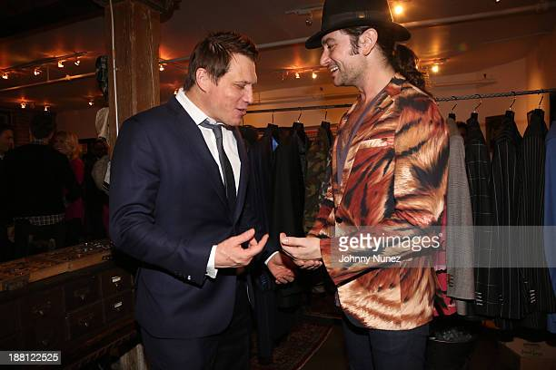Actor Holt McCallany and singer Constantine Maroulis attend the Alexander Nash Bespoke Studio Presents Night Of Site at Alexander Nash Studio on...