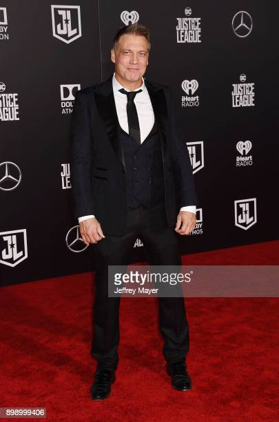 Actor Holt McCallany arrives at the premiere of Warner Bros Pictures' 'Justice League' at the Dolby Theatre on November 13 2017 in Hollywood...